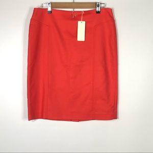 NEW Mercer & Madison Sz 10 Orange Pencil Skirt